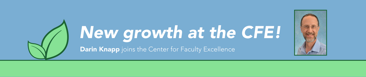 Darin J. Knapp joins the UNC Center for Faculty Excellence