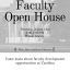 Faculty open house. Come learn about faculty development opportunities at Carolina. Thursday, August 13th, 5:00 PM-7:00 PM. Wilson Library
