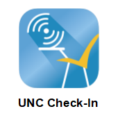 UNC check-in logo